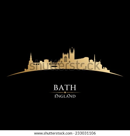 Bath England city skyline silhouette. Vector illustration - stock vector