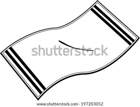 bath towel - stock vector