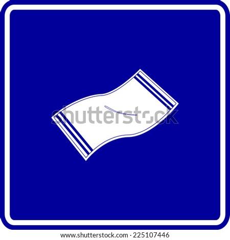 bath towel sign - stock vector