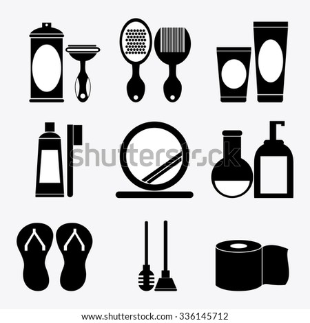 Bathroom concept about icons design, vector illustration 10 eps graphic.