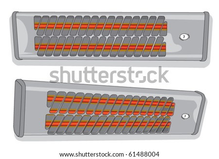 bathroom heater - stock vector
