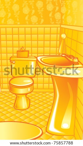 Bathroom Illustration - stock vector
