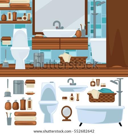 House Plumbing Information Board Vector Illustration Stock