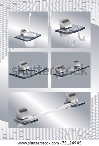 Bathroom objects - stock vector