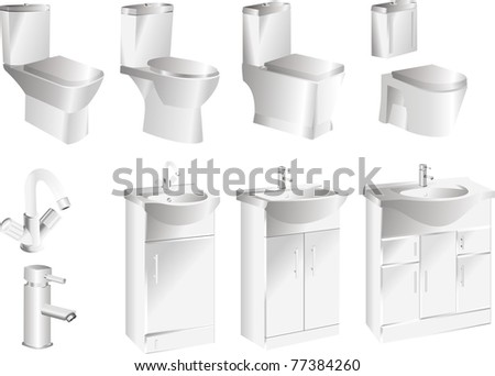 bathroom sanitary - stock vector