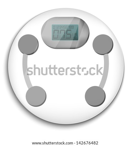 Bathroom scale - stock vector