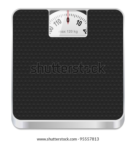 Bathroom scale icon. Vector illustration. - stock vector