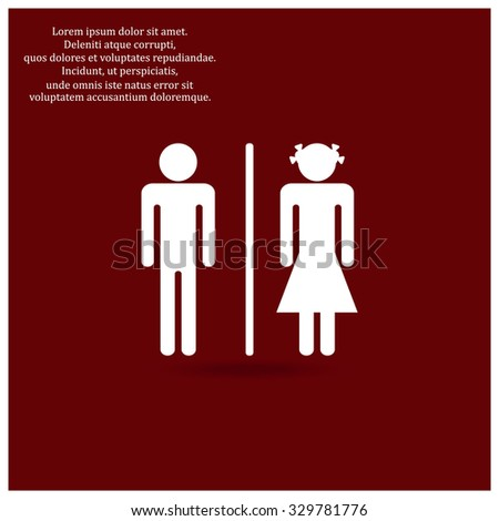 Bathroom Signs Holding Hands man woman toilet icon vector filled stock vector 576608680