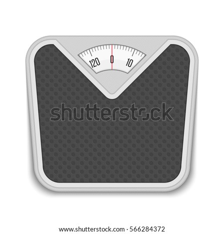Amazing Bathroom Weight Scale In Realistic Style. Weight Scale Fitness Sport  Concept. Vector Illustration EPS