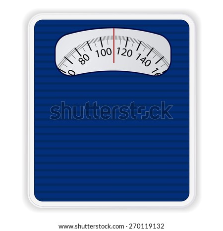 Bathroom weight scale on white background. Vector Illustration - stock vector
