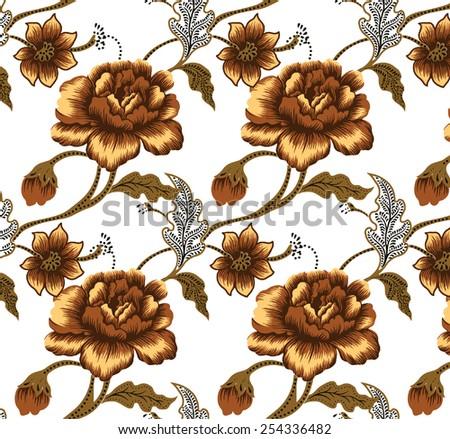 Batik fabrics, beautiful design background. - stock vector