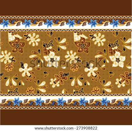 Batik pattern. Art background design pattern. - stock vector