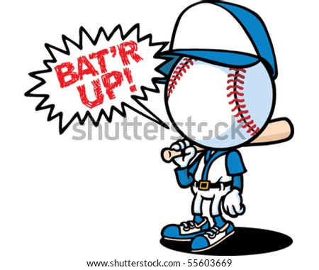 Batter Up - stock vector