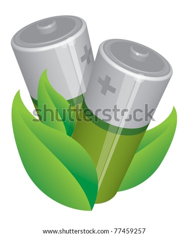 Batteries - stock vector