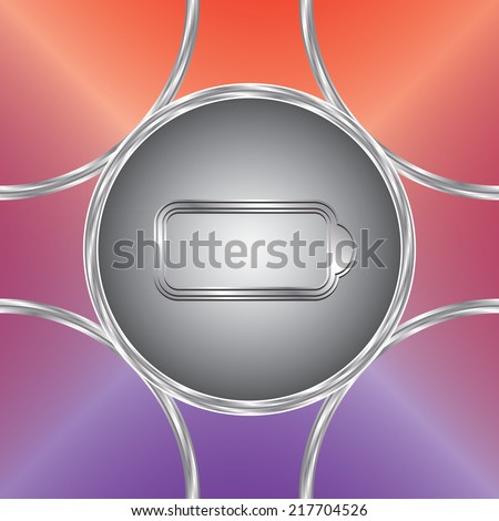 Battery charge icon. Vector button. Bright background