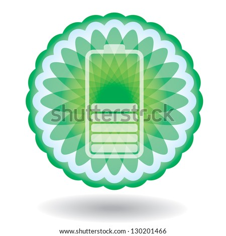 Battery Charge Indicator panel - abstract illustration with sign - stock vector