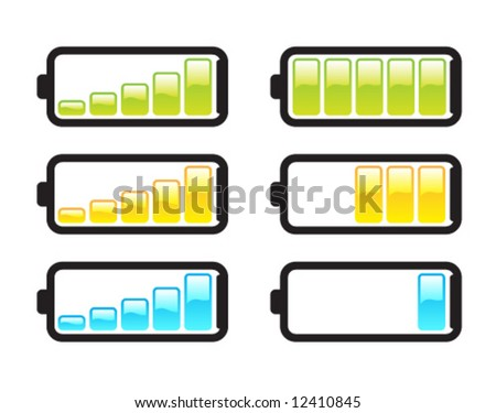 Battery GlossLogo - stock vector