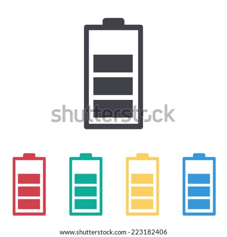 battery icon, - stock vector