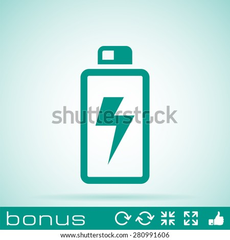 battery icon - stock vector