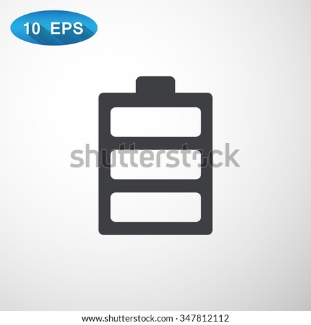 battery icon - stock vector