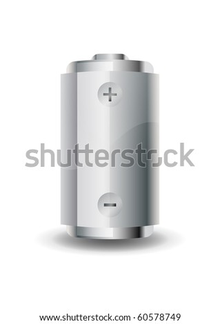 Battery icon Isolated on a white background - stock vector