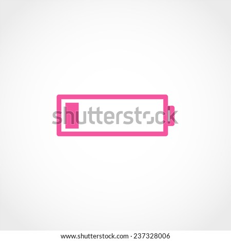 Battery Icon Isolated on White Background - stock vector