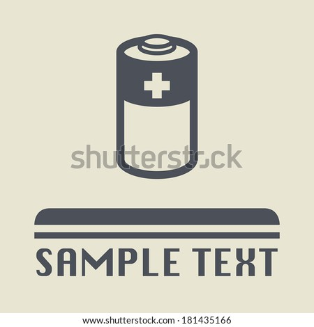 Battery icon or sign, vector illustration - stock vector