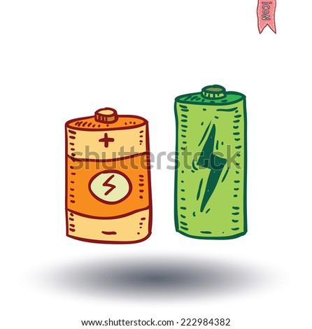 battery icon - vector illustration - stock vector