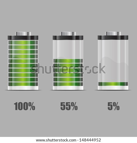 Battery illustration. Concept-battery life - stock vector