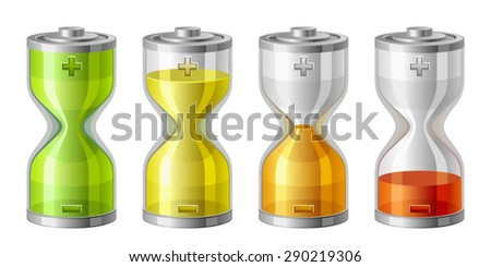 Battery level - stock vector