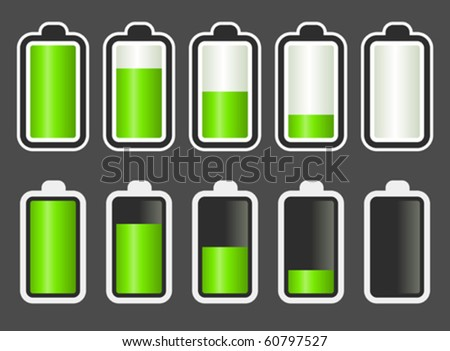 Battery Level Indicator. - stock vector