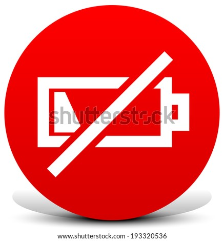 Battery low symbol concept image. - stock vector