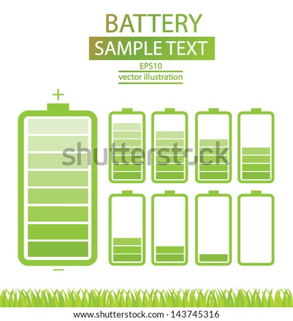 Battery on white background, vector illustration. - stock vector