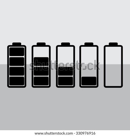 Battery - vector icon, flat design  - stock vector
