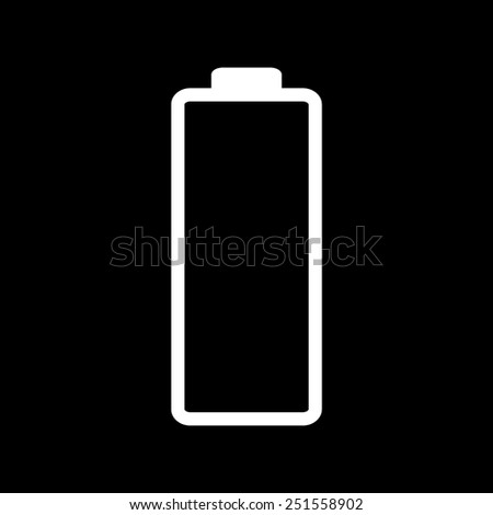 Battery - vector icon, flat design on a black background