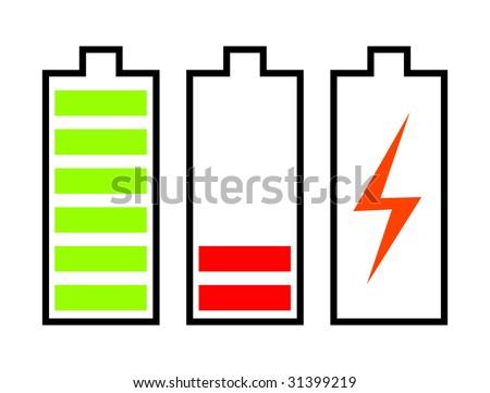 battery, vector illustration - stock vector