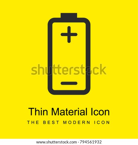 Battery Plus Minus Signs Positive Negative Stock Photo (Photo ...