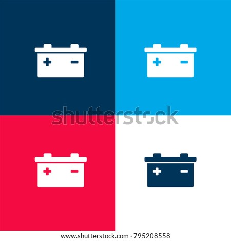 Battery Positive Negative Poles Symbols Four Stock Vector 795208558 ...