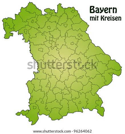 Bavaria with counties