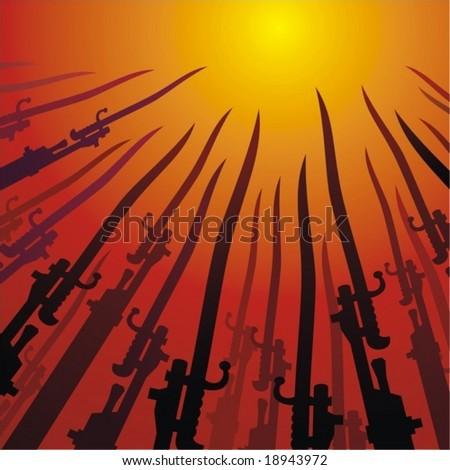 Bayonets - stock vector
