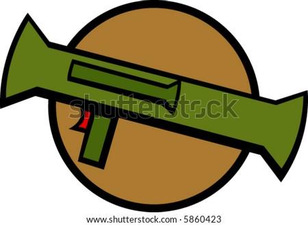 bazooka rocket launcher - stock vector