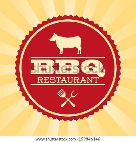 bbq design over grunge background vector illustration