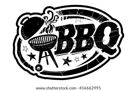 Bbq Grill Vector Icon Stock Vector 456662995 Shutterstock