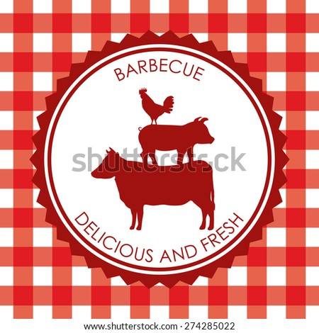 bbq menu design, vector illustration eps10 graphic