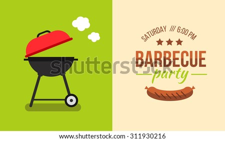 Bbq Party Invitation Stock Images, Royalty-Free Images & Vectors ...