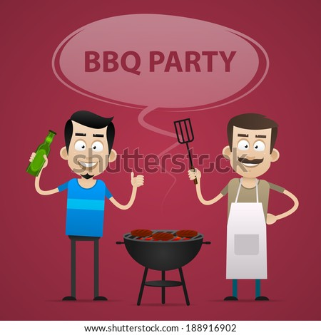 BBQ Party concept - stock vector
