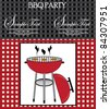 bbq party invitation - stock photo