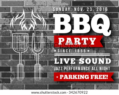 BBQ party vector illustration - stock vector