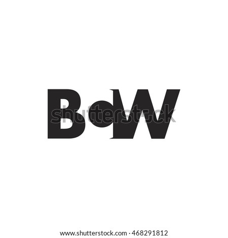 BCW Logo. Vector Graphic Branding Letter Element. White Background