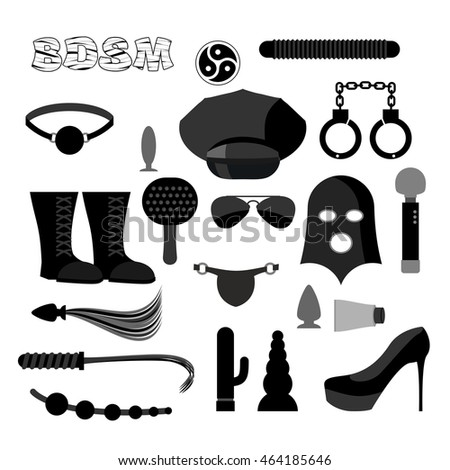 stock vector bdsm line icons adult toys outline